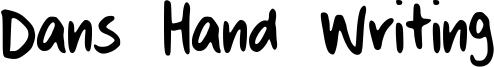 Dans Hand Writing Font