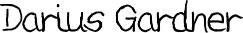 Darius Gardner Font