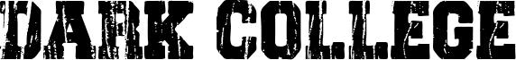 Dark College Font