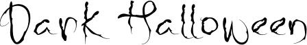 Dark Halloween Font