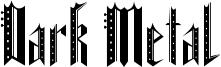 Dark Metal Font