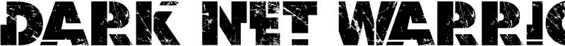 Dark Net Warrior Font