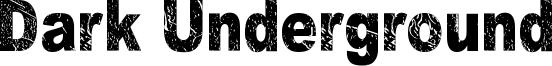 Dark Underground Font