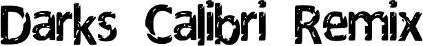 Darks Calibri Remix Font