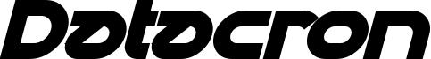 Datacron Bold Italic.ttf