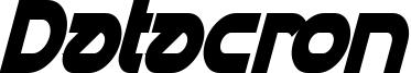 Datacron Condensed Bold Italic.ttf