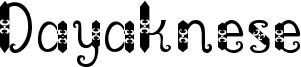 Dayaknese Font