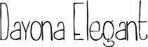 Dayona Elegant Font