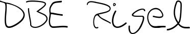 DBE Rigel Font