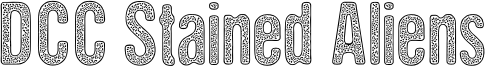 DCC Stained Aliens Font