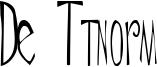 De Ttnorm Font
