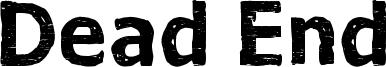 Dead End Font