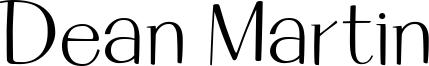 Dean Martin Font