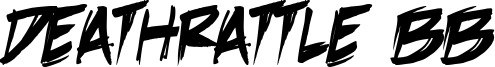 DeathRattle BB Font