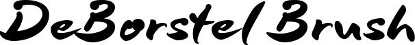 DeBorstel Brush Font
