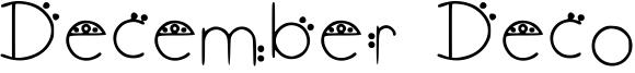 December Deco Font