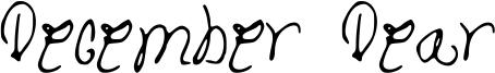 December Dear Font