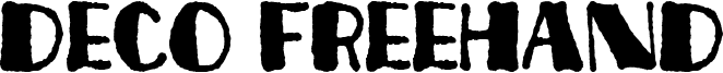 Deco Freehand Font
