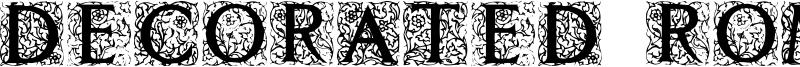 Decorated Roman Initials Font