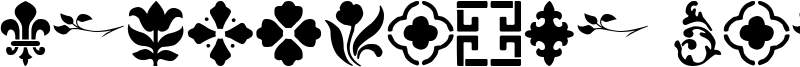 Decorative Stencil Font