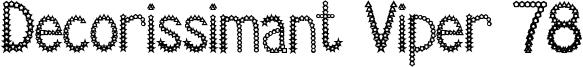 Decorissimant Viper 78 Font