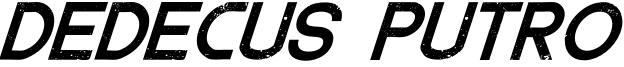 DedecusPutro-Italic.otf