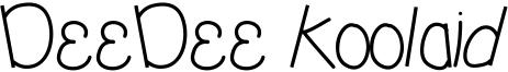 DeeDee Koolaid Font