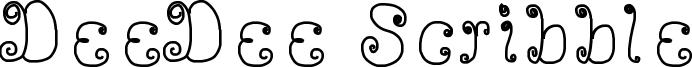 DeeDee Scribble Font