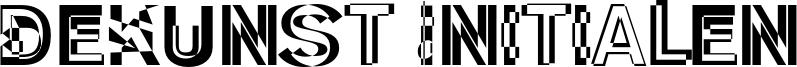 DeKunst Initialen Font