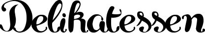 Delikatessen Font