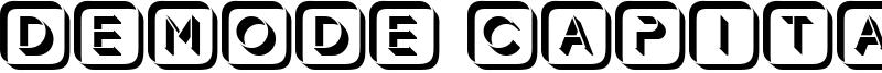 Demode Capitals Font