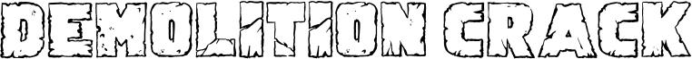 Demolition Crack Font