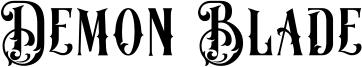 Demon Blade Font