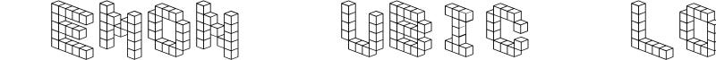 Demon Cubic Block Font Font