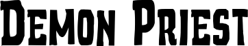 Demon Priest Font