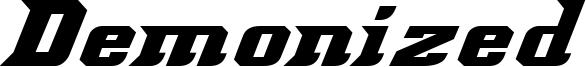 Demonized Font