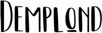 Demplond Font