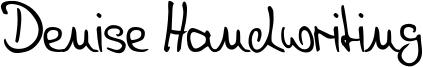 Denise Handwriting Font