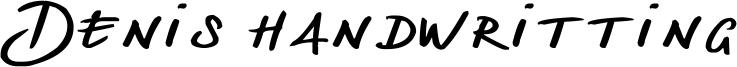 Denis handwritting Font