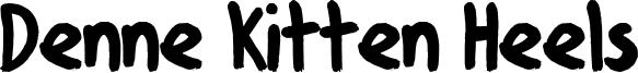 Denne Kitten Heels Font