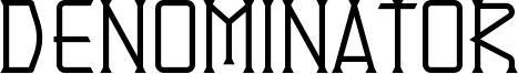 Denominator Font