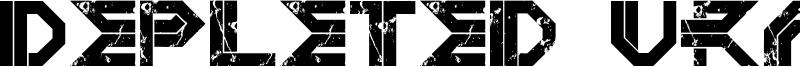 Depleted Uranium  Font