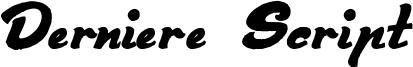 Derniere Script Font