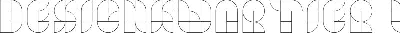 Designkwartier Line Caps Font