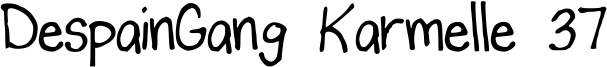 DespainGang Karmelle 37 Font