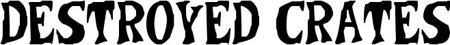 Destroyed Crates Font