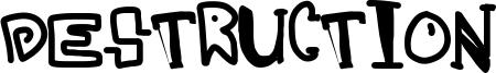 Destruction Font