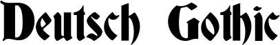 Deutsch Gothic Font
