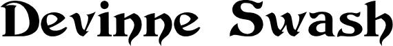 Devinne Swash Font