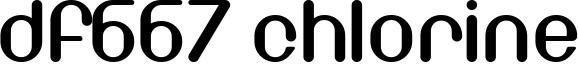 DF667 Chlorine Font